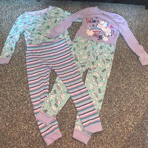 4 pc. Unicorn Pajama Set
